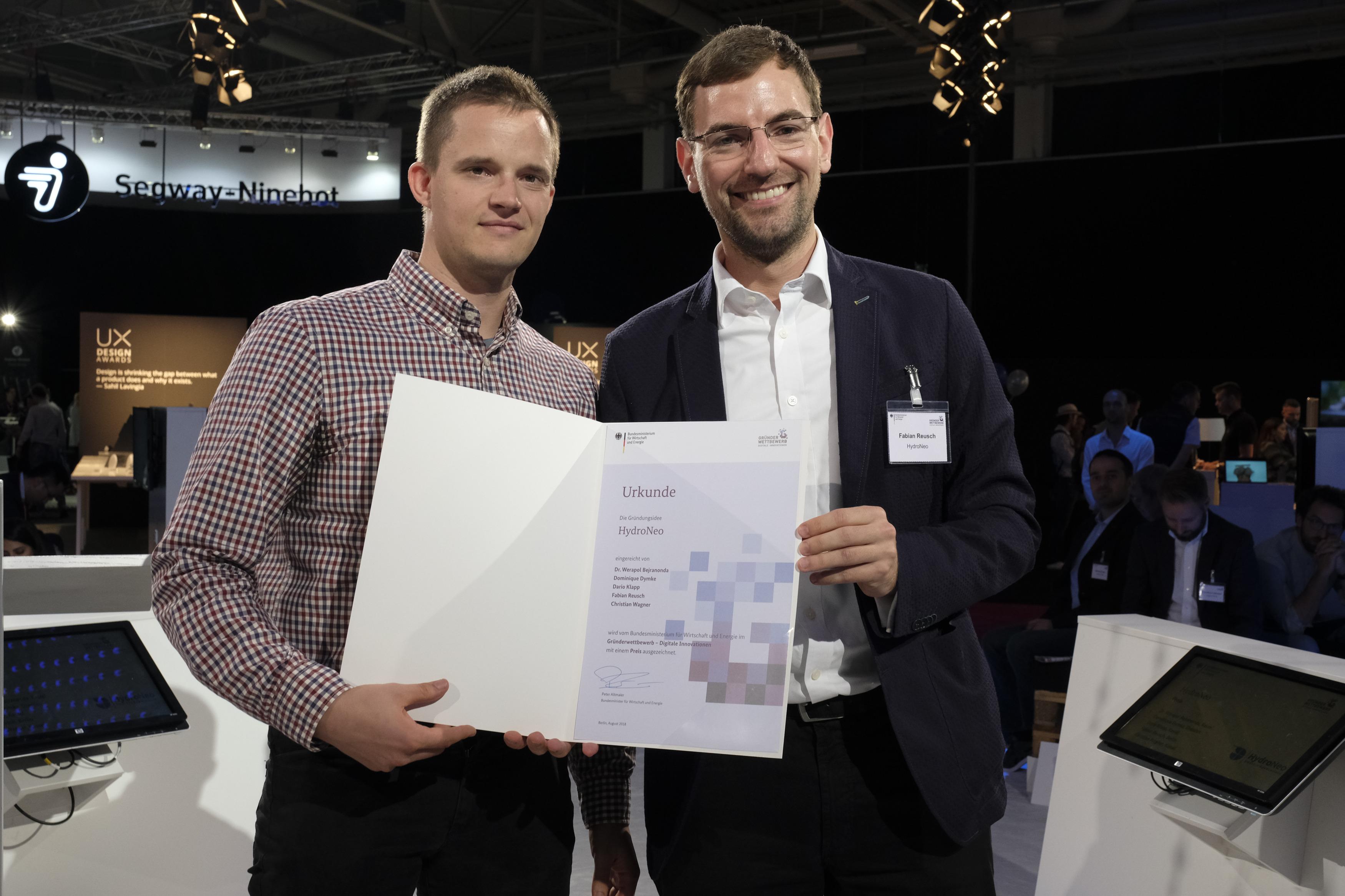 DEU, Berlin, 31.08.2018, Gründerwettbewerb Digitale Innovationen, Preisverleihung auf der IFA 2018,  [ (c) Wolfgang Borrs,  www.borrs.de, info@borrs.de ]